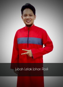 Jubah-lelaki-johan-rosli-jubah-merah-line-kelabu